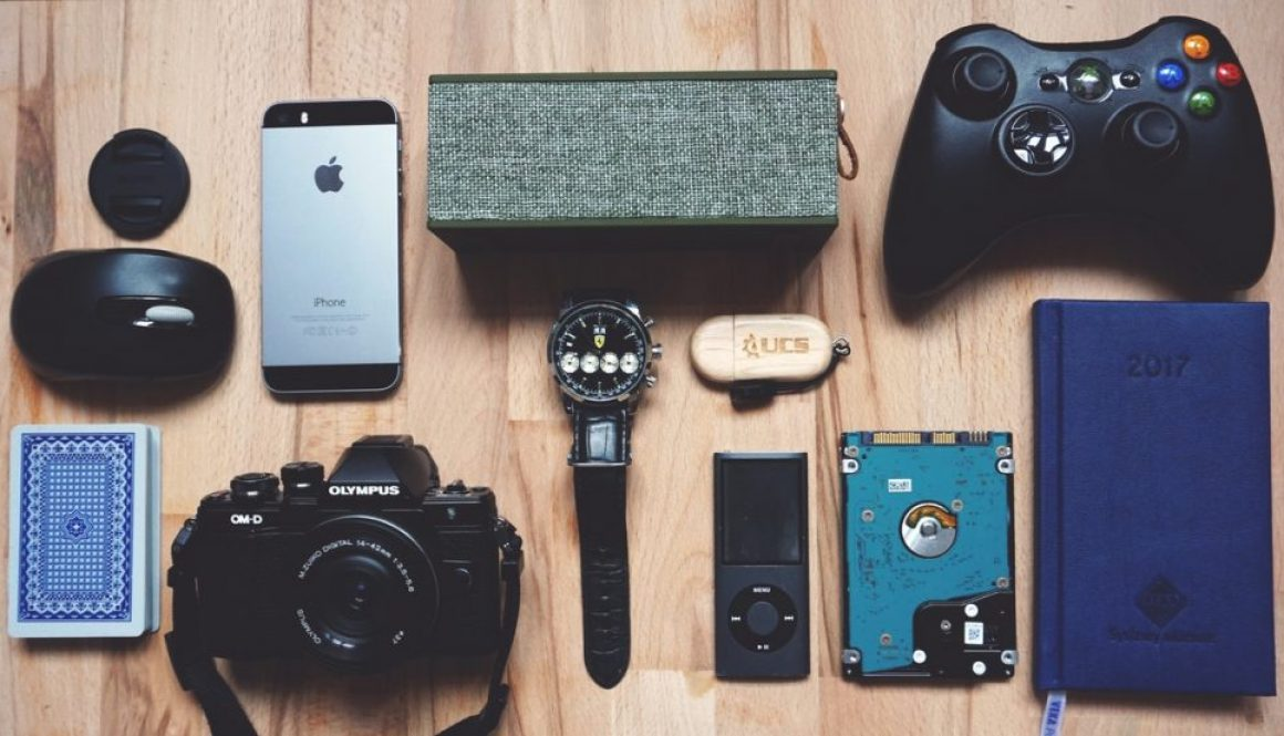 gadgets for men on table