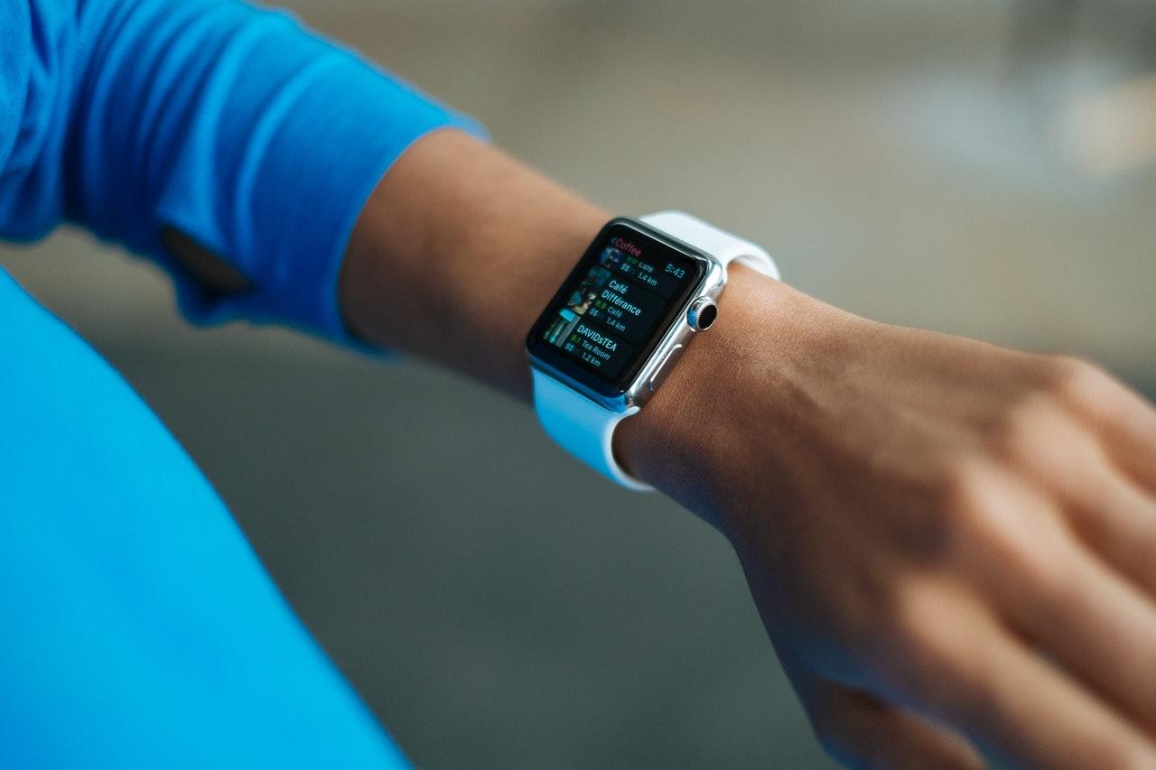 smart watch on man's wrist