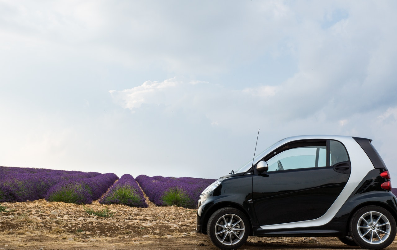 smart car with voice control technology in the field